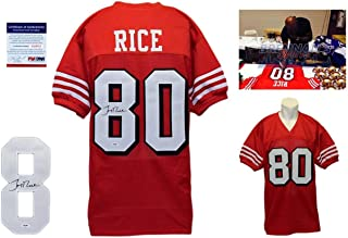 Jerry Rice Signed Custom Jersey - PSA/DNA - Autographed w/ Photo - 75th TB