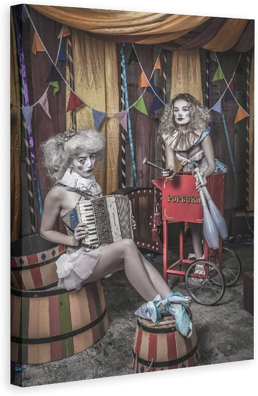 JKSER Vintage Circus Acrobatics Show Ranking TOP11 Opening large release sale Funny Canvas Poster
