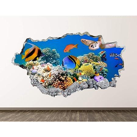 Q177w Travel Minivan trip  Bedroom Smashed Wall Decal 3D Art Stickers Vinyl Room