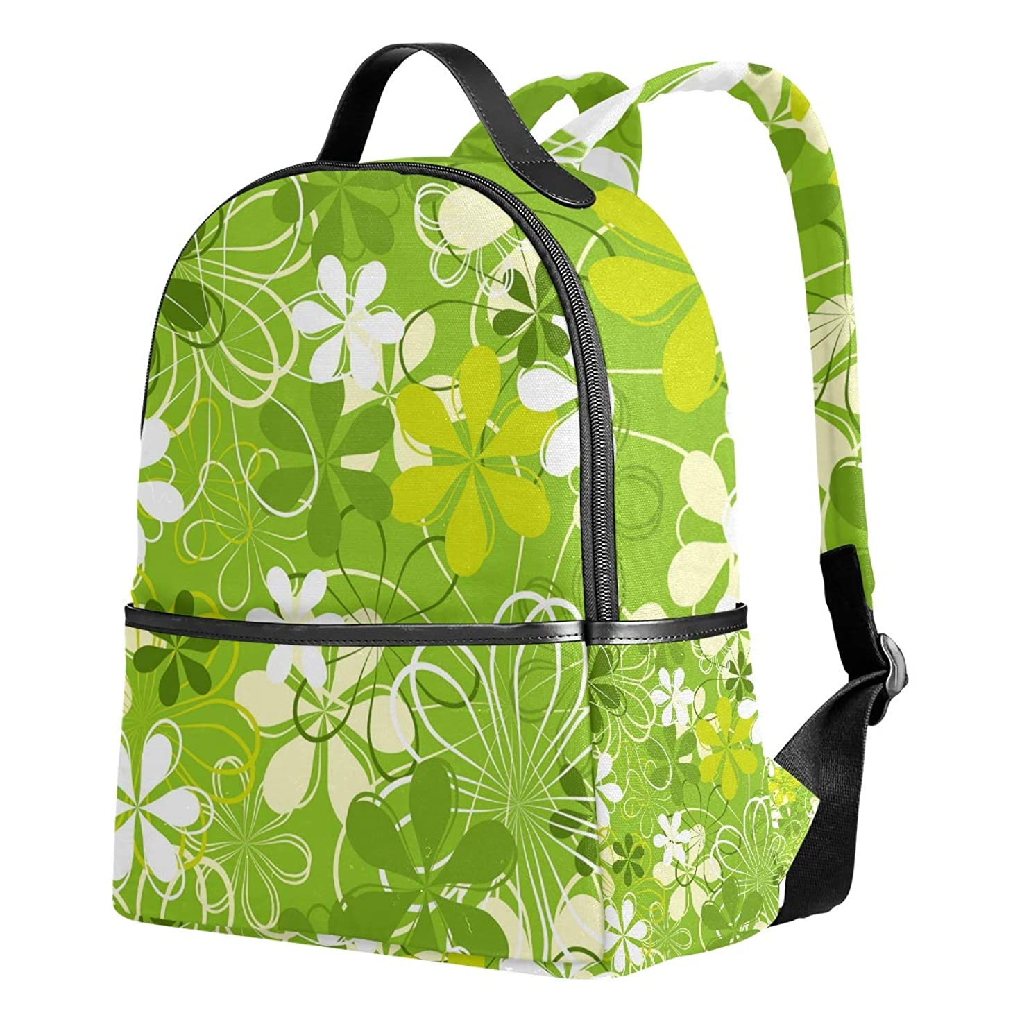 ヘア対象テクトニックリュック おしゃれ レディース 大容量 軽量 花柄 綺麗 グリーン リュックサック 通学 多機能 プレゼント対応