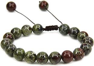 Amandastone 10mm Round Beads Adjustable Braided Macrame Tassels Chakra Reiki Bracelets 7-9 inch Unisex