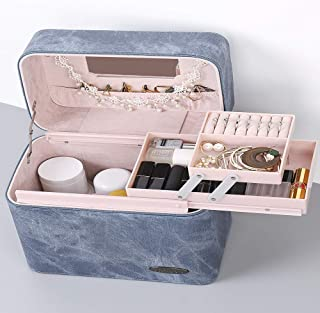 Cosmetic Bag Large Capacity Portable Suitcase Storage Box