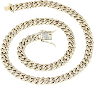 Micro Hip hop 8mm Mens Iced Out CZ Miami Cuban Link Chain 18''-24'' Necklace or 8.5'' Bracelet