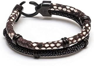 ZENGER Genuine Python/Stingray Double Stack Bracelet