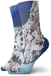 Be-ryl, Calcetines de Equipo Snow Leopard Cub Animal Calcetín atlético Cojín Anti Olor único Medias de Arranque Corto