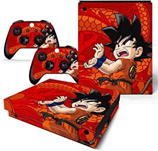 EBTY-Dreams Inc. - Microsoft Xbox One X Scorpio - Dragon Ball Z (DBZ) Son Goku Saiyan Vinyl Skin Sticker Decal Protector
