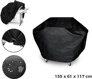 MEDIA WAVE store 4216 Cubierta de Tela Totalmente Impermeable para Barbacoa 155 x 61 x 117 cm