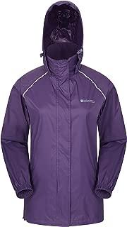 Mountain Warehouse Pakka Womens Waterproof Packable Jacket - Foldaway Hood Jacket, High Vis Ladies Winter Coat, Lightweight Rain Jacket -for Cycling, Walking, Travelling