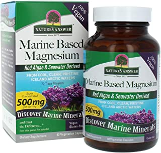 Nature's Answer Marine Based Magnesium, 90-Count Super Concentrated 500 mg per Serving 72 Trace Minerals