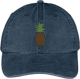 Pineapple Embroidered Pigment Dyed 100% Cotton Cap