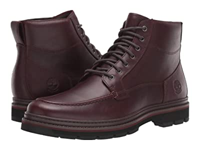 Timberland Port Union Waterproof Moc Toe Boot (Burgundy Full-Grain) Men