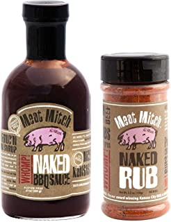 Meat Mitch Mighty BBQ Bundle - Meat Mitch WHOMP! Naked Barbecue Sauce, 21 Ounce & Meat Mitch WHOMP! Naked Dry Rub, 6 Ounce (1 of Each)