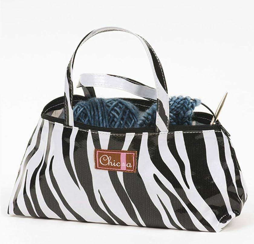 Chic-a Stitching and Knitting Accessories (Triad Mini Tote, Zebra)