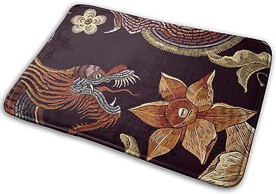 Doormat Embroidery Chinese Dragons Entrance Rug Indoor/Outdoor Door Shoe Scraper Entryway,Garage and Laundry Room Floor Mat,15.7X23.6in