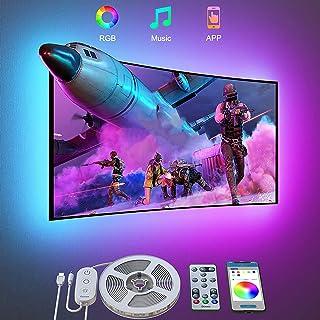 Govee Ruban LED RGB TV 3m Bande Lumineuse avec Télécommande USB App Multicolore Rétroéclairage pour Téléviseur PC 46-60 Po...