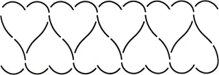 Quilting Creations Heart Border Quilt Stencil, 3