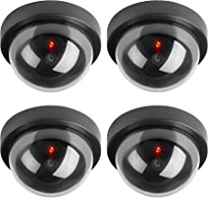 TOROTON Dummy Fake Security CCTV Dome Camera Simulation Monitor with LED Flashing Light, Outdoor and Indoor Use for Homes & Business, 4 Pack