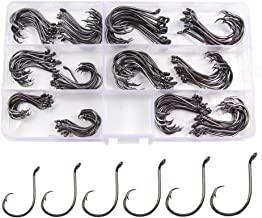 Croch 150 Pack Octopus Circle Hooks 6 Size #1, 1/0, 2/0, 3/0, 4/0, 5/0