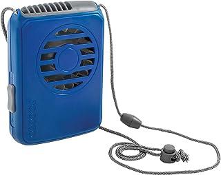 O2COOL o2-Cool fn02001 Deluxe Collar Ventilador, Azul Oscuro