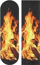 Burning Flame Skateboard Grip Tape Sport Outdoor Skateboard Longboard Board Waterproof Griptape Sheet Sticker Sand Paper Anti Slip 9