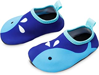 Toddler Kids Swim Water Shoes Quick Dry Non-Slip Water Skin Barefoot Sports Shoes Aqua Socks for Boys Girls Toddler