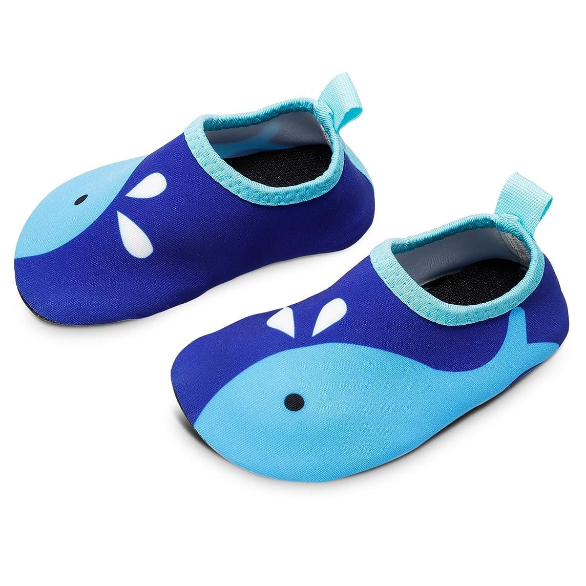 Bigib Toddler Kids Swim Water Shoes Quick Dry Non-Slip Water Skin Barefoot Sports Shoes Aqua?Socks for Boys?Girls?Toddler