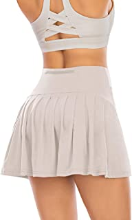 Pleated Tennis Skirts for Women with Pockets Shorts Athletic Golf Skorts Activewear Running Workout Sports Skirt