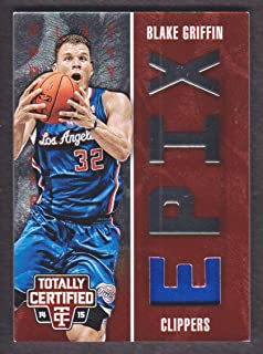 2014-15 Totally Certified EPIX Play Jersey Red #5 Blake Griffin 088/199 Clippers