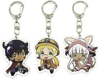 Set of 3 Made In Abyss Anime Acrylic Keychain Regu, Riku, Nanachi v1