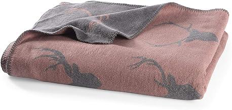 myHomery Kuscheldecke aus Baumwolle – Decke fürs Sofa mit Kettelrand –..