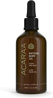 ACARAA Body Oil, Oil Moisturizer To Tighten Skin, Anti-Aging Bio Oil Against Stretch Marks & Itchy Skin, Skin Oil With Jojoba Oil, Argan Oil & Almond Oil, Natural Cosmetics From Germany, 3.4 oz
