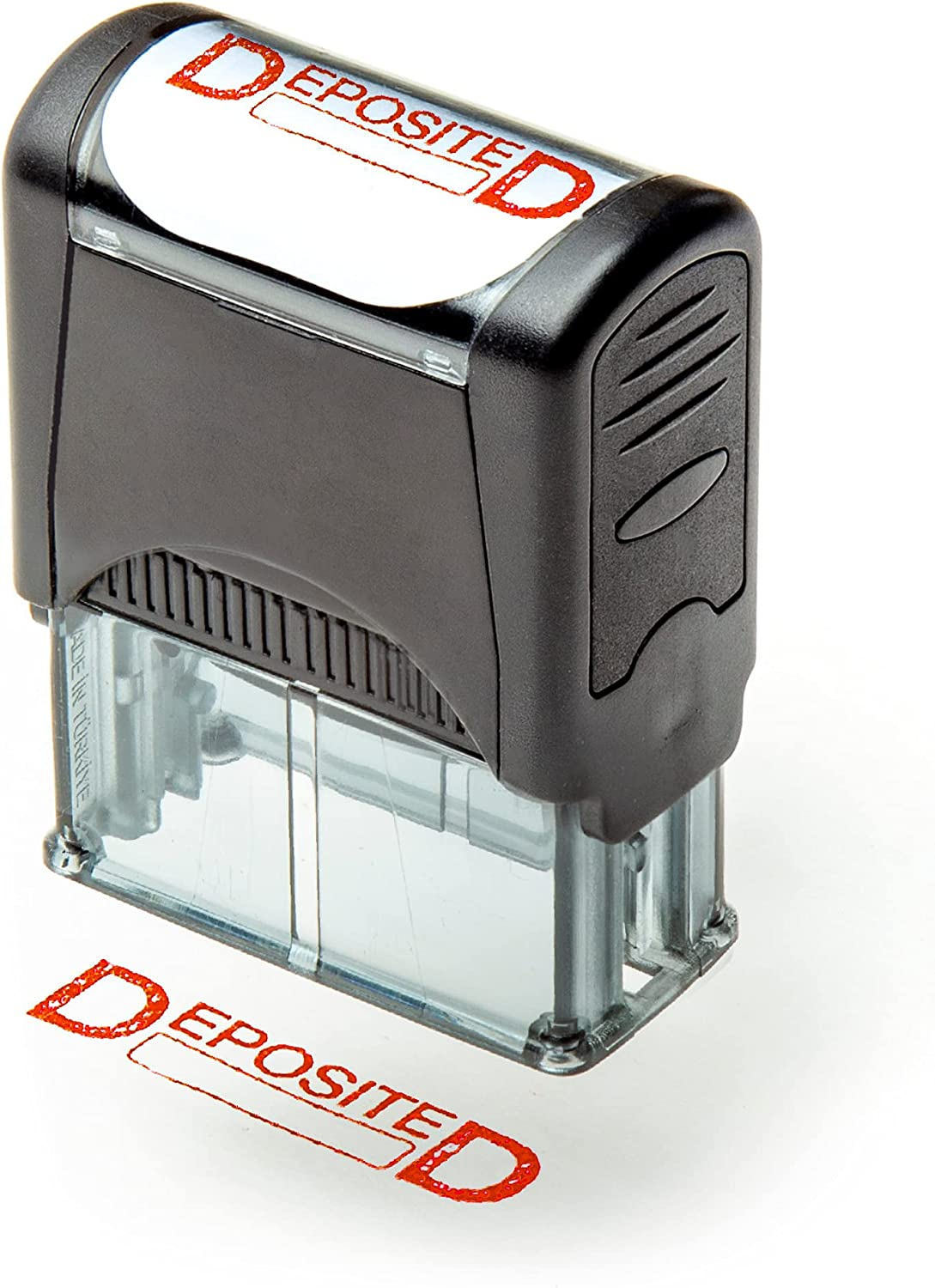 Self Inking Rubber Stamp Refillable Free shipping - Red Preinstalled DEPO Max 51% OFF Ink