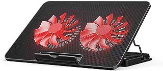 Notebook Cooler Pad Laptop Kylkuddar Laptop och Notebook Kylkudde med 2 fläktar vid 1400 rpm laptop kylning