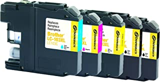 Dataproducts Remanufactured 5-Pack-Inkjet Cartridges for Brother LC103-2 Black, Cyan, Magenta, Yellow