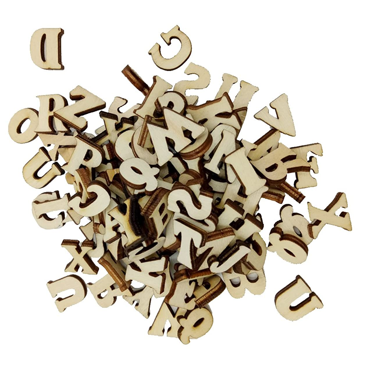 省略法医学方言#N/A 100x木製文字木製アルファベット小綴りピース/個DIY木製工芸品装飾