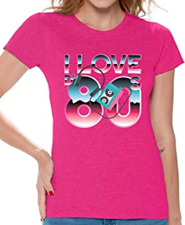 80s Shirts 80s Clothes for Women 80s Disco Theme I Love The 80s