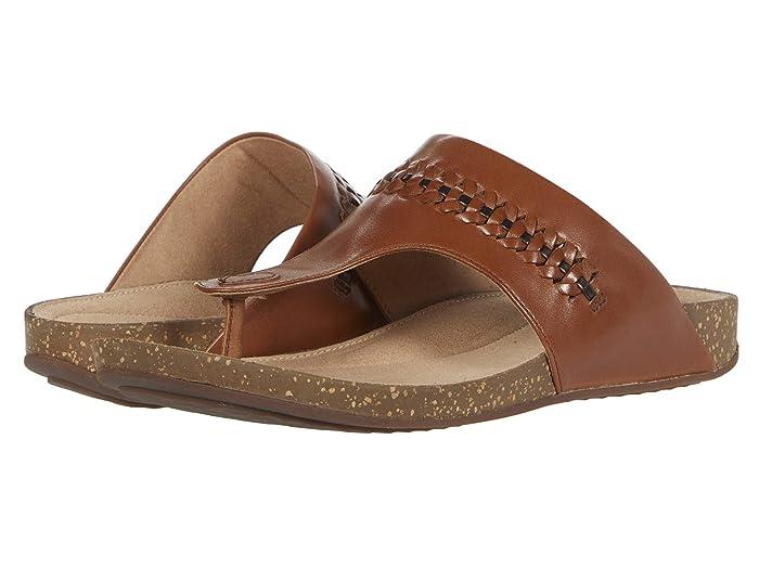 Vintage Sandals | Wedges, Espadrilles – 30s, 40s, 50s, 60s, 70s Clarks Un Perri Vibe Dark Tan Leather Womens Shoes $110.00 AT vintagedancer.com
