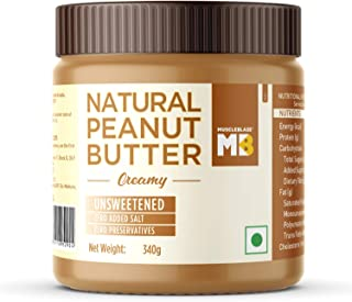 MuscleBlaze Natural Peanut Butter Unsweetened, 340 gram Creamy