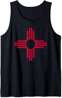 Vintage New Mexico Zia Sun Symbol Apparel Red Zia Sun Alone Tank Top