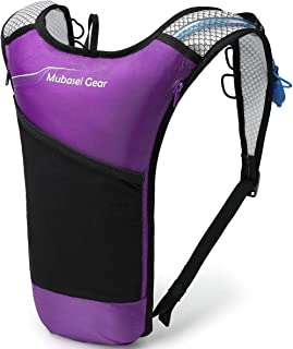 Mubasel Gear Hydration Backpack Pack with 2L BPA Free Bladder - Lightweight Pack Keeps Liquid Cool Up to 4 Hours - Outdoor...