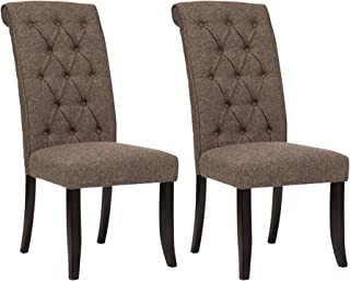 Ashley Furniture Signature Design - Tripton Dining Room Side Chair Set - Upholstered - Vintage Casual - Set of 2 - Graphite