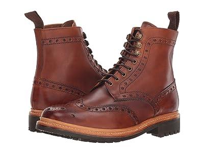 Grenson Fred Commando Sole Boot (Tan Hand Painted Calf) Men