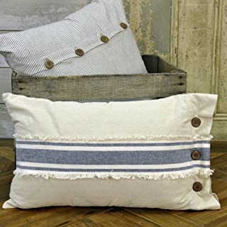 Piper Classics Chambray Grain Sack Stripe Pillow Cover, 12 x 20, Farmhouse Style