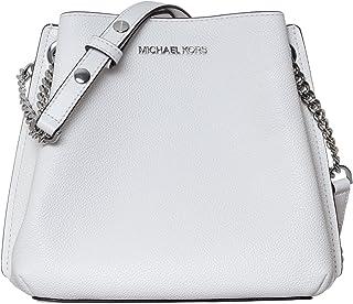 Michael Kors Kleine Umhängetasche Damen Weiß Leder Soft 20 x 20 x 10 cm