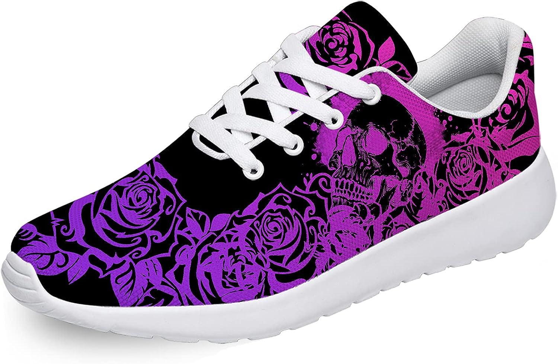 Womens Mens Purple Skull Shoes Athletic Tenn San Antonio Mall Rapid rise Lightweight Running