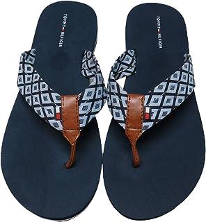 8ae0fa2e39a Tommy Hilfiger Women s Chevin-C Flip Flops Medium Blue Fabric