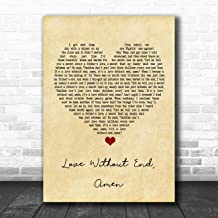 Love Without End, Amen Vintage Heart Song Lyric Print