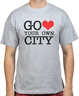 Go Heart Love Your Own City New York T-shirt Sports Grey 3XL