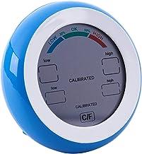 Katigan Pantalla LCD digital Termometro interior Higrometro Redonda Temperatura electronica inalambrica Medidor de humedad Estacion meteorologica Tester azul