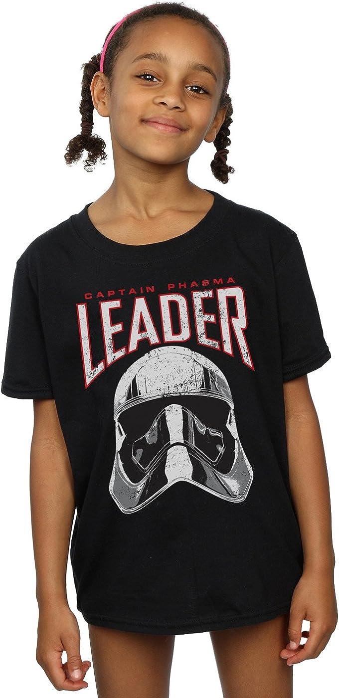 STAR WARS Girls The Last Jedi Leader Helmet T-Shirt 7-8 Years Black